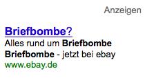 briefbombe