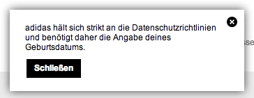 Screenshot adidas.de